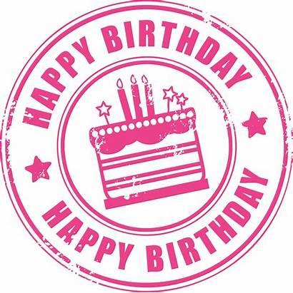 Birthday Happy Stamp Clip Stuff Delicious Pink