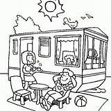 Camping Caravan Roulotte Vacaciones Dessin Verano Vacances Dibujos Ete Coloriage Tente Dete Colorear Coloring Liefhebbers Colorare Disegni Trailer Dibujo Vacanza sketch template