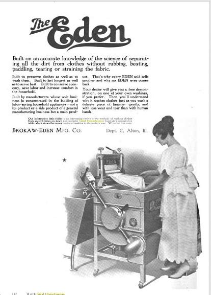 HOME APPLIANCE: Before automatic, electric washers became