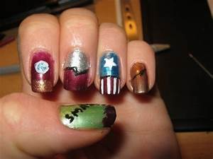 Avenger Nails · A Character Nail · Drawing and Nail ...