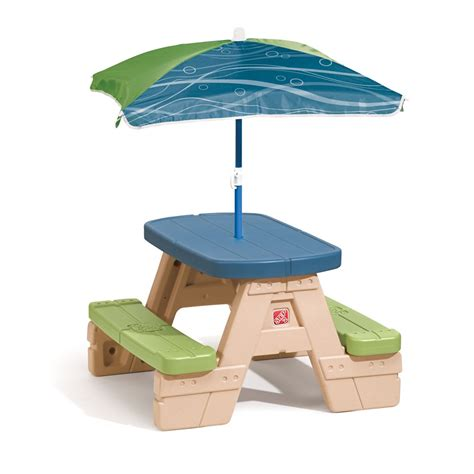 step 2 table with umbrella sit play picnic table with umbrella step2