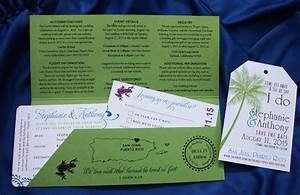 green purple blue waterfall tree frog swirls el With destination wedding invitations puerto rico