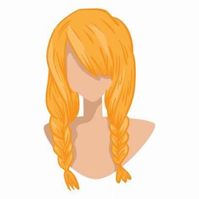 Hair Blonde Braids Icon Double Transparent Texture