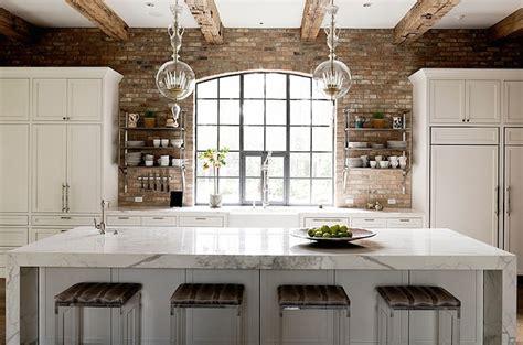 Exposed Brick Walls-transitional-kitchen-thompson