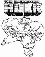 Hulk Coloring sketch template