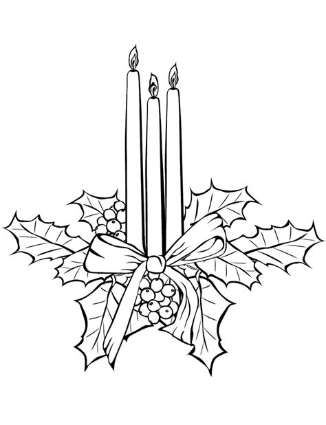 candle coloring pages    print