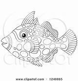 Clown Triggerfish Clipart Illustration Vector Royalty Coloring Bannykh Alex Regarding Notes Clipartof sketch template