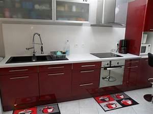 Cuisine rouge bordeaux 16 modeles pour vous inspirer for Deco cuisine avec chaise en couleur pas cher
