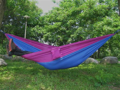 Purple Hammock by Large Blue And Purple Parachute Hammock Heavenly Hammocks