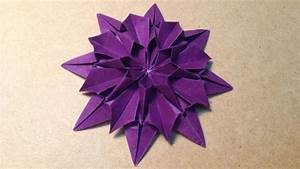 Origami Flower Instructions    Dahlia