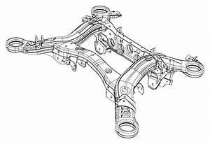 2017 Jeep Grand Cherokee Cradle  Rear Suspension   Rear Suspension Parts Module    230mm Rear