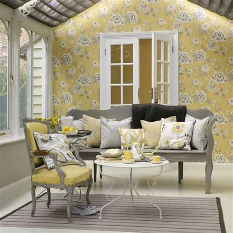 Yellow Living Room Wallpaper by Top 25 Ideas About Yellow Conservatory Furniture On