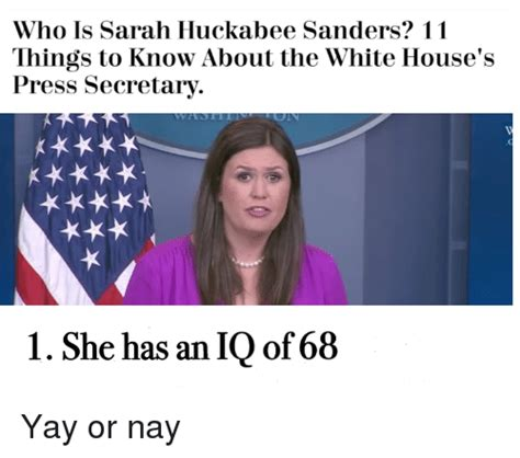Sarah Huckabee Sanders Memes - who is sarah huckabee sanders 11 things to know about the white house s press secretary 1 she