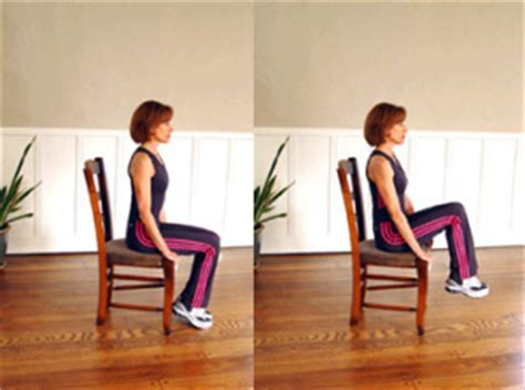 chair leg lifts at home and there are lots of ways to do push ups lol but a wall