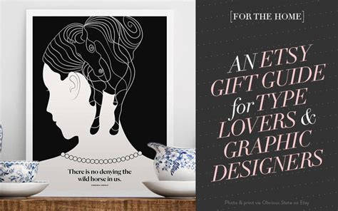 gifts for graphic designers for the home 14 etsy gifts for type graphic