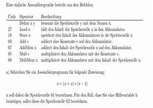 Stichprobenvarianz Berechnen : informatik assemblersprache zuweisung x x x x 1 ~ Themetempest.com Abrechnung