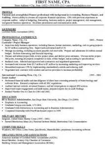 resume exle accountant resume sle accountant resume