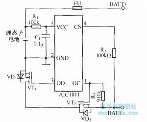 Li Ion Battery Protection Circuit Schematic