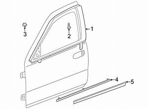 Cadillac Seville Door Reveal Molding  Front  Left