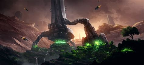 nature video games space fantasy art landing