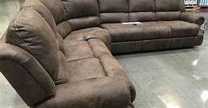 Motion sectional with three recliners costco weekender for 3 piece sectional sofa costco