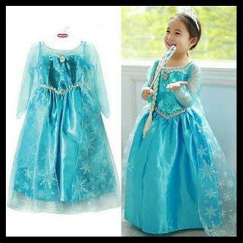 jual promo hari ini kostum elsa frozen gaun ulang tahun baju pesta import di lapak
