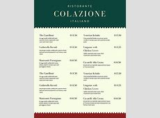 Customize 156+ Italian Menu templates online Canva