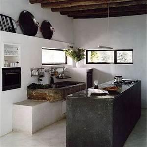 Deco Melange Rustique Et Moderne : cuisine rustique 23 id es inspirations photos ~ Melissatoandfro.com Idées de Décoration