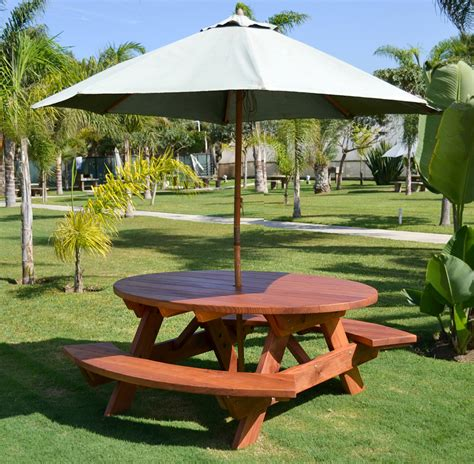 picnic table with umbrella hole oval picnic table custom oval shaped wood picnic table