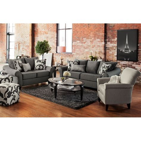 Maybe you would like to learn more about one of these? Colette Gray 3 Pc. Living Room w/Accent Chair   Value city furniture, City living room, City ...