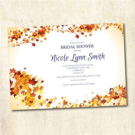 autumn fall wedding invitation autumn fall theme