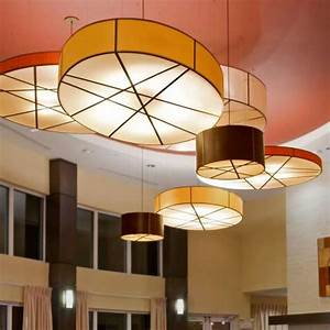 Large Drum Ceiling Light Shades