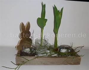 Frühlingsdeko Im Glas : osterdeko mit kiste und hase aus holz basteln und dekorieren ~ Orissabook.com Haus und Dekorationen