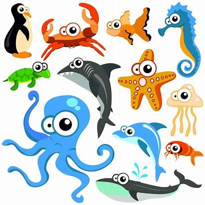 Cartoon Animals Characters Sea Funny Animal Sketch