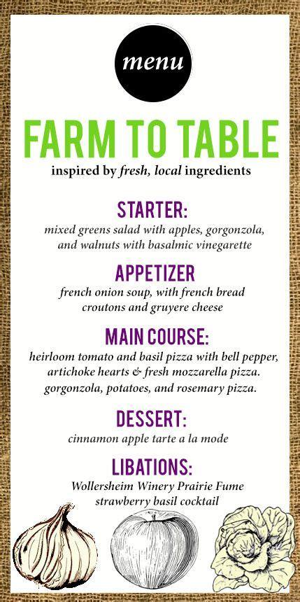 Restaurant Table Menu by Best 10 Wedding Dinner Menu Ideas On Rustic