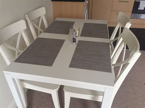 Melltorp Tisch Ikea by Ikea Melltorp Table 4 Ingolf Chairs In Castleford