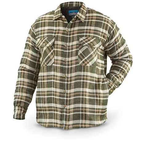 flannel shirt jacket with quilted lining s quilted flannel shirt jacket 639198 insulated
