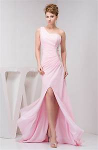 Baby pink long wedding guest dress inexpensive fall one for Light pink dress for wedding guest
