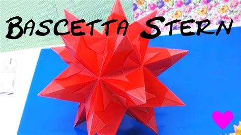 sterne basteln aus papier bascetta stern origami
