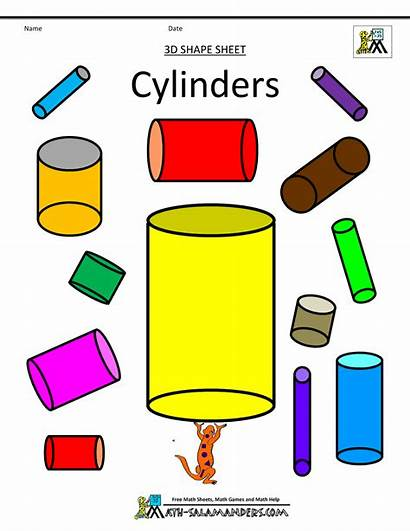Shapes Shape Cylinders 3d Math Clipart Printable