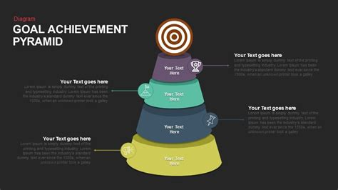 Goal Pyramid Template by Goal Achievement Pyramid Keynote And Powerpoint Template