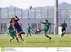 Women Soccer Match - FC Barcelona Vs Levante Editorial ...