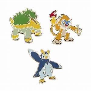 Grotle, Monferno, and Prinplup Pokémon Pins   Sinnoh ...
