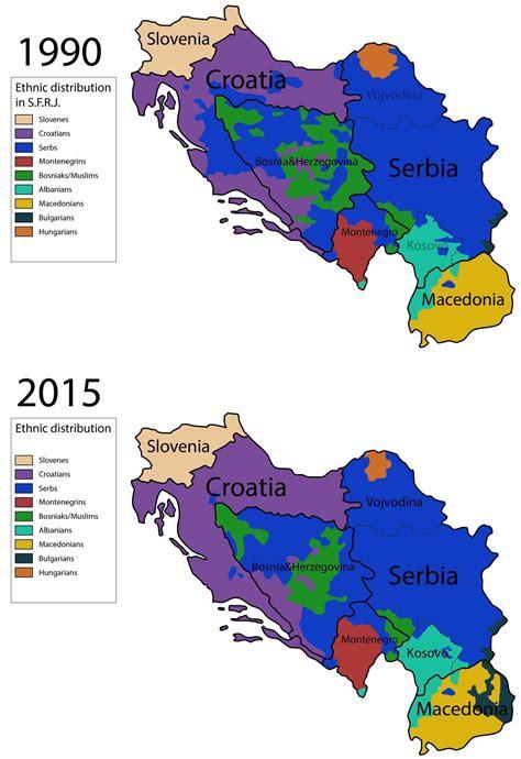 ethnic map  yugoslavia     war