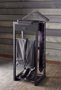 Mens Valet Stand Organizer Clothing Wardrobe Clothes Suit
