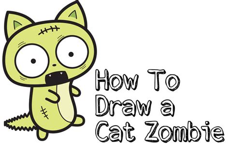 cat zombies archives   draw step  step drawing