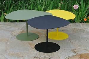 Table De Jardin Grise : table basse gigogne de jardin table galet 3 de matire ~ Dailycaller-alerts.com Idées de Décoration