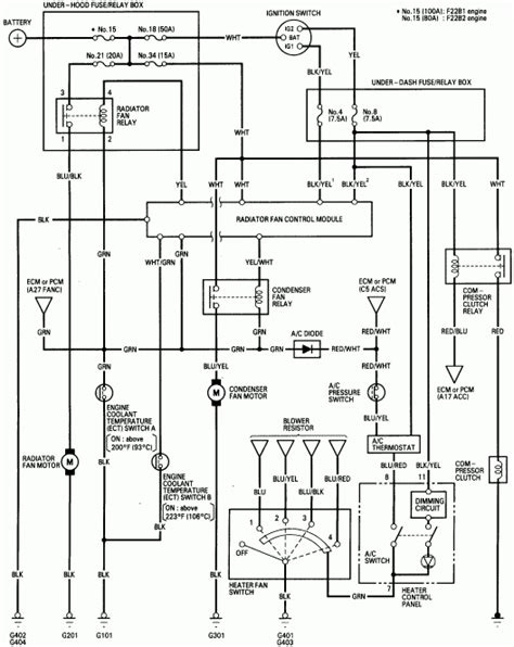 2000 honda accord ac wiring diagram fuse box and wiring