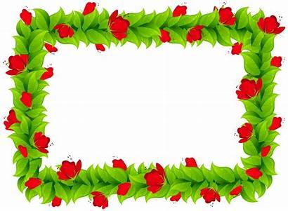 Border Frame Floral Clipart Sunflower Divider Borders