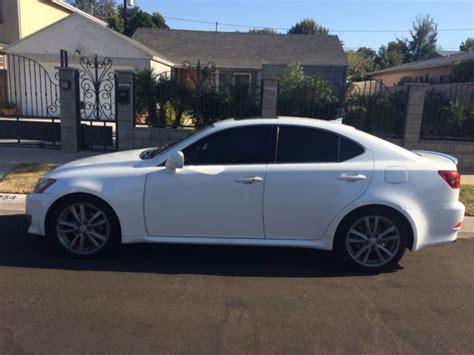 white lexus is 250 2008 jthbk262882060114 2008 lexus is 250 pearl white clean